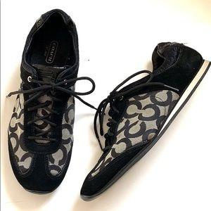 Coach Kelbie Black and Grey Sneakers